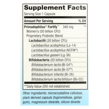 Nature's Way Women's 50 Billion Probiotic Supplement  - 1 Each - 30 VCAP