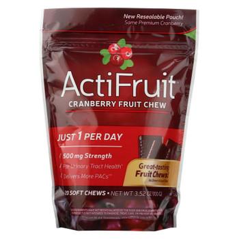 Actifruit Cranberry Fruit Chews  - 1 Each - 20 TAB