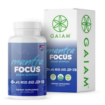 Gaiam - Mantra Focus Brain Sprt - 1 Each - 60 CAP