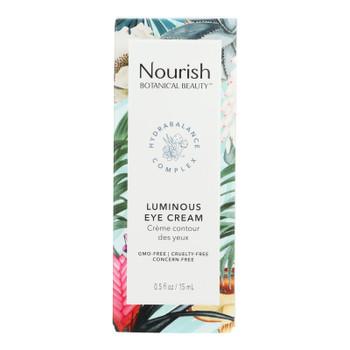 Nourish Botanical Beauty - Eye Cream Luminous - 1 Each - 0.5 FZ