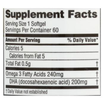 Spectrum Essentials Prenatal Dha No Fish Oil Dietary Supplement  - 1 Each - 60 SGEL