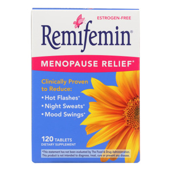 Enzymatic Therapy Remifemin Menopause Relief Dietary Supplement  - 1 Each - 120 TAB