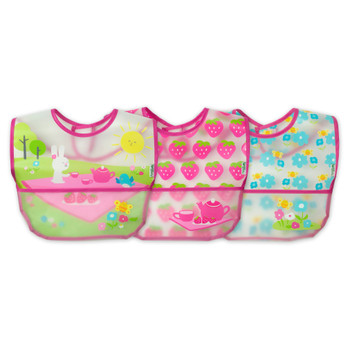 Green Sprouts - Bibs Wipe Off Pink 9-18mo - 1 Each - 3 CT