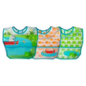 Green Sprouts - Bibs Wipe Off Aqua 9-18mo - 1 Each - 3 CT
