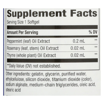 Enzymatic Therapy Peppermint Soothe Digestive Comfort Dietary Supplement - 1 Each - 60 SGEL