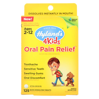 Hylands Homeopathic - 4kids Pain Relf Oral - 1 Each - 125 TAB