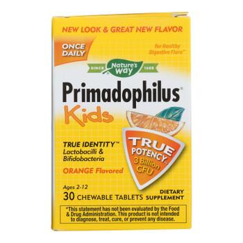 Nature's Way Dietary Supplement Orange Flavored Primadophilus  - 1 Each - 30 CHEW