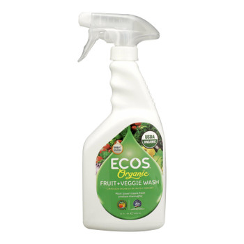 Ecos - Spray Fruit Veggie Wash - Case of 6 - 22 FZ