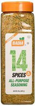 Badia Spices - 14 Spices All Purpose - Case of 4 - 20 OZ