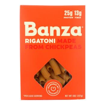 Banza Rigatoni Chickpea Pasta  - Case of 6 - 8 OZ