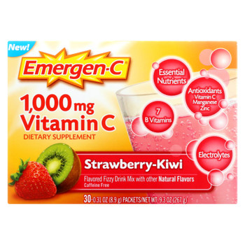 Emergen-c - Strawberry Kiwi - 1 Each - 30 PKT