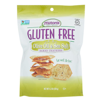 Miltons - Cracker Olive Oil Gluten Free - Case of 12 - 4.5 OZ