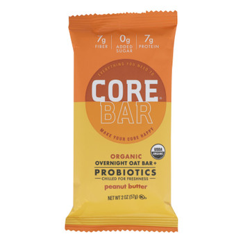 Core Foods - Bar Probiotic Peanut Butter - Case of 8 - 2 OZ