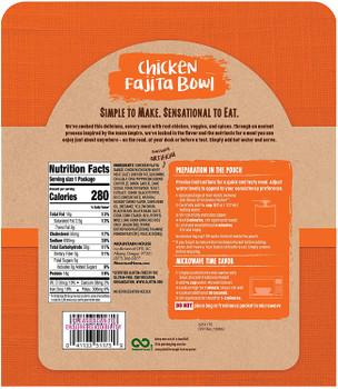 Simple Sensations - Bowl Chicken Fajitas - Case of 6 - 2.12 OZ