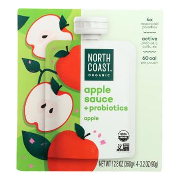 North Coast Organic Apple Sauce + Probiotics - Case of 6 - 4/3.2 OZ