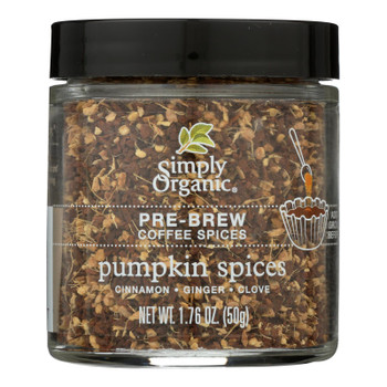 Simply Organic - Coffee Spice Pumpkin Prebrw - Case of 6 - 1.76 OZ