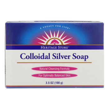Heritage Store - Bar Soap Colloidal Silver - Case of 3 - 3.5 OZ
