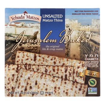 Yehuda - Matzo Thins Unsalted - 1 Each - 10.5 OZ