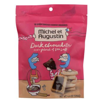 Michel Et Augustin - Cookie Dark Chocolate Ss Shortbread - Case of 6 - 4.4 OZ