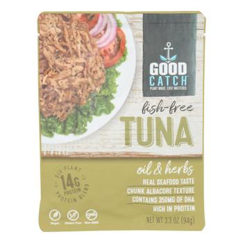 Good Catch - Fish Free Tuna Oil & Herb - Case of 12 - 3.3 OZ
