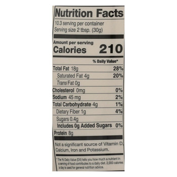 Mighty Sesame Company - Tahini Organic Fine Sesame - Case of 8 - 10.9 OZ