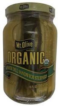 Mt Olive Pickle Co Kosher Dill Sandwich Stuffers - Case of 6 - 16 FZ