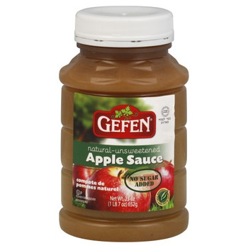 Gefen - Apple Sauce Natural - Case of 12 - 23 OZ