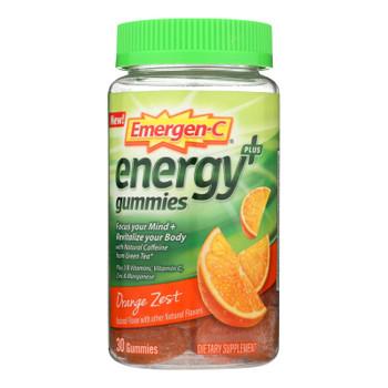 Emergen-c - Energy Gummies Orange Zst - 1 Each - 30 CT