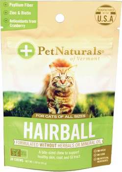Pet Naturals Of Vermont - Hairball Chews Cats - 1 Each - 30 CT