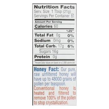 Bee Flower & Sun Honey - Honey Blueberry Blossom - Case of 6 - 44 OZ