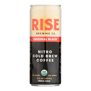 Rise Brewing Co - Cld Brew Coffee Org Black - Case of 12 - 7 FZ
