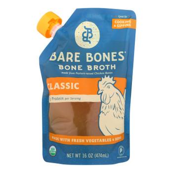 Bare Bones Chicken Bone Broth  - Case of 6 - 16 FZ