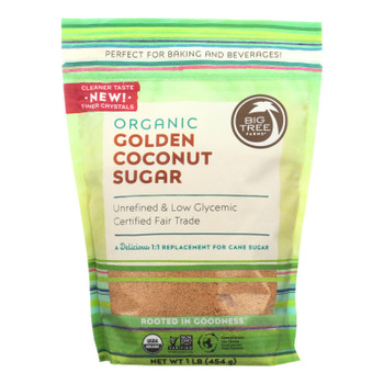 Big Tree Farms Organic Golden Coconut Sugar  - Case of 6 - 16 OZ