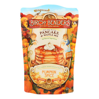 Birch Benders Micro-Pancakery Pancake & Waffle Mix, Pumpkin Spice  - Case of 6 - 16 OZ