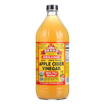 Bragg Apple Cider Vinegar, Raw & Unfiltered  - Case of 3 - 32 FZ