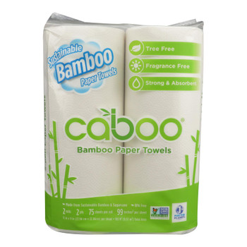 Caboo Bamboo And Sugarcane Paper Towels  - Case of 20 - 2 PK