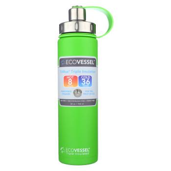 Ecovessel Boulder Mile High Green Water Bottle - Case of 6 - 24 OZ