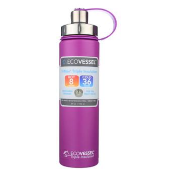 Ecovessel Trimax Triple Insulation Stainless Steel Water Bottle In Purple Haze - Case of 6 - 24 OZ