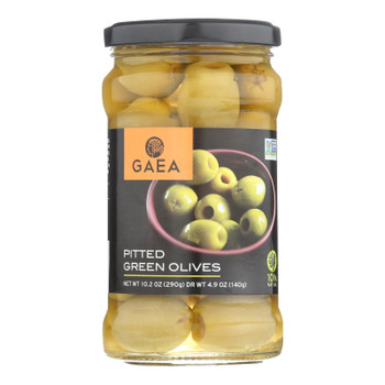 Gaea Pitted Olives  - Case of 8 - 4.9 OZ