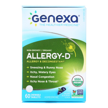 Genexa Allergy-D Homeopathic Medicine  - 1 Each - 60 TAB