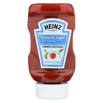 Heinz Ketchup, Reduced Sugar  - Case of 6 - 13 OZ