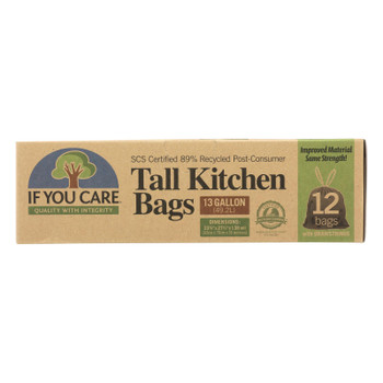 If You Care - Trash Bags Recycled 13gal - 1 Each-12 CT