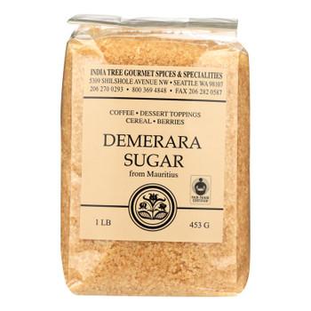 India Tree Gourmet Spices & Specialties Demerara Sugar  - Case of 6 - 16 OZ