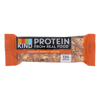 Kind Protein From Real Food Crunchy Peanut Butter Bars  - Case of 12 - 1.76 OZ