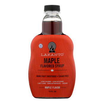 Lakanto Monk Fruit Sweetened Maple Flavored Syrup  - Case of 8 - 13 FZ