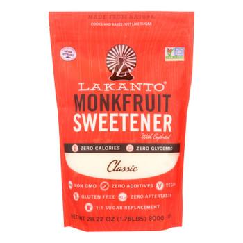 Lakanto's Classic Monkfruit Sweetener  - Case of 8 - 28.22 OZ