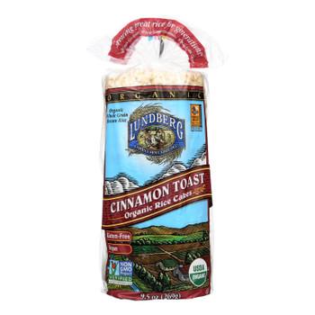 Lundberg Family Farms - Rice Cake Cinnamon Toast - Case of 6-9.5 OZ