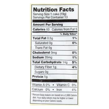 Lundberg Family Farms - Rice Cake Brown Salt - Case of 6-8.5 OZ
