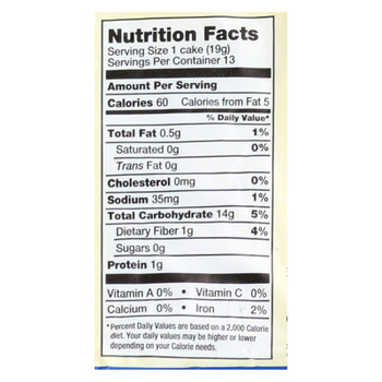 Lundberg Family Farms - Rice Cake Brown Saltd - Case of 6-8.5 OZ