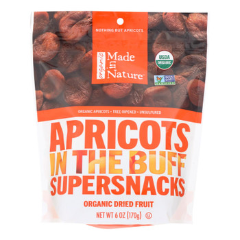 Made In Nature Apricots Organic Dried Fruit  - Case of 6 - 6 OZ